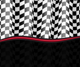 Black and white checkered background vector 05