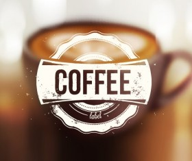 Blurred coffee background vector