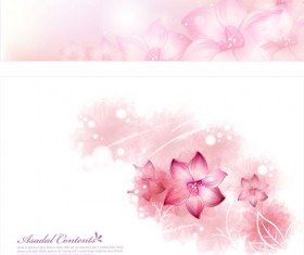 Brilliant flowers background material vector 04
