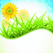 Link toBrilliant spring natural vector background material 01