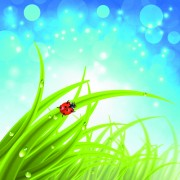 Brilliant spring natural vector background material 03