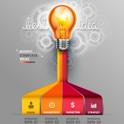 Link toBusiness infographic creative design 1154
