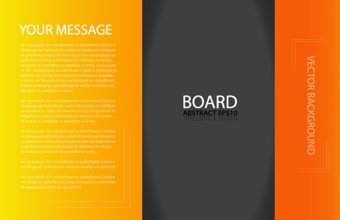 business brochure template background vector set 03 free download