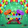 Carnival night background with mask vector 03