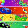 Carnival night mask banner vector