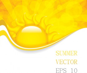 Cartoon summer sun vector background 01