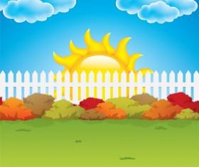 Cartoon summer sun vector background 03