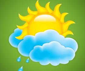Cartoon summer sun vector background 05