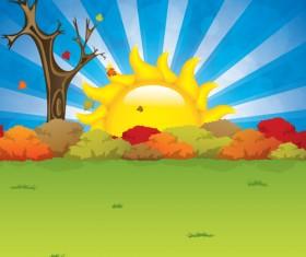 Cartoon summer sun vector background 06