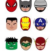 Link toCartoon superheroes head portrait vector