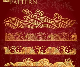 Chinese style floral pattern vector graphic 03