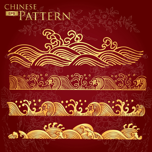 Chinese floral pattern images for Chinese vector
