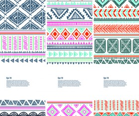 Christmas ethnic pattern banner vector 01