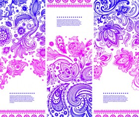Christmas ethnic pattern banner vector 05