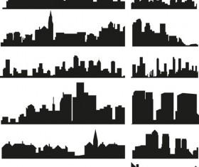 City building creative silhouettes design vector