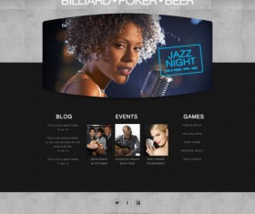 Classic entertainment website psd template