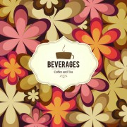 Link toCoffee and tea floral menu cover vector