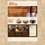 Coffee theme website template psd
