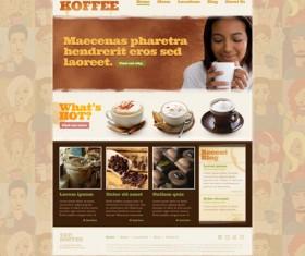Coffee theme website template psd