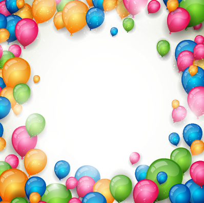 Colored Balloon With White Background Vector Background