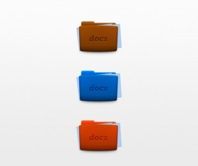 Colored docs icons psd