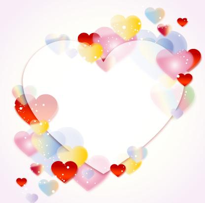 Colored Dream Heart Design Vector 01 Vector Heart Shaped