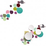 Link toColored petal shapes background vector