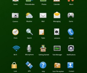 Common phone applications icons set