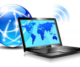 Creative Internet world design vector 01