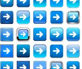 Creative arrows icons vectors pack set 04