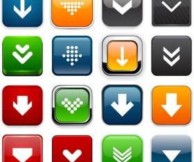 Creative arrows icons vectors pack set 05