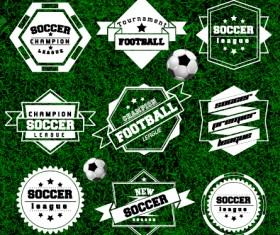 Creative football labels design vector graphics 04