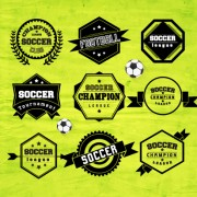 Creative football labels design vector graphics 05