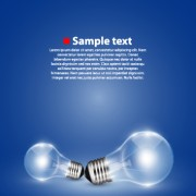 Link toCreative light bulb and blue background vector graphics 02