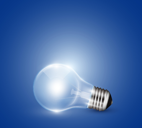Creative Light Bulb And Blue Background Vector Graphics 03