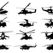 Link toCreative military helicopter silhouette vector material