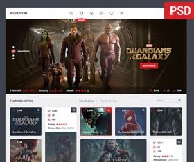 Creative movie store website template