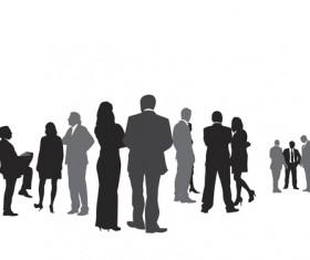 Creative people silhouettes design vector set 01