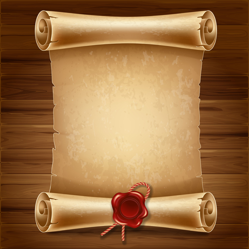 Creative-scroll-paper-background-vector-set-14 Old Scroll Paper Template Letter on template without backgroung, black background, black white, wax seal,