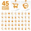 Creative shopping icons stickers vector 01