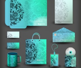 Creative stationery cover kit vector set 02