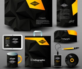 Creative stationery cover kit vector set 05