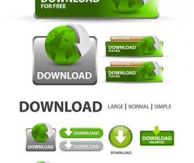 Creative website download buttons vectors set 02