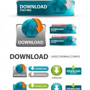Link toCreative website download buttons vectors set 05