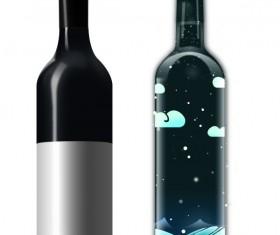 Creative wine bottle vectors