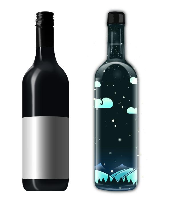 Creative wine bottle vectors – Over millions vectors, stock