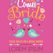 Link toCute birds wedding invitation card vector