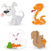 Link toCute animals icons vector and photoshop brushes