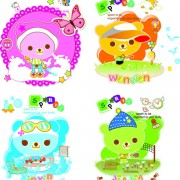 Link toCute cartoon baby bear vector material