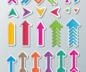 Cute paper arrows vector